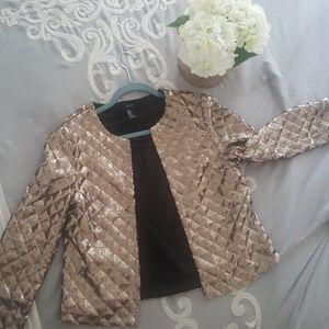 Lovely sequin 3/4 sleeve Jacket